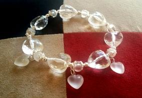 Clear (acrylic) Hearts